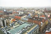 WROCLAW, POLAND - NOV 6: Top view of Wroclaw old town from the top of the tower of the church of Saint Elizabeth. Wroclaw is going to be European Capital of Culture in 2016.