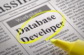 Database Developer Vacancy in Newspaper.