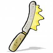 cartoon knife spreading butter