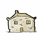 cartoon crumbling cottage