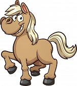 Cute cartoon pony. Vector clip art illustration with simple gradients. All in a single layer.