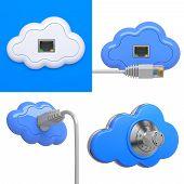 Cloud Computing Concepts - 3D Set.