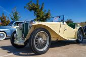 Yellow 1947 Mg Tc Roadster Classic Car