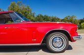 Red 1963 Studebaker Gran Turismo Classic Car
