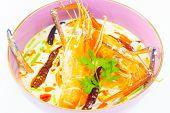 coconut milk soup with shrimp