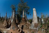 Group Of Ancient Pagodas Of Inn Taing Temple.