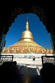 Important Large Golden Pagoda In Bago City,Myanmar.