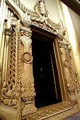 Myanmar Art At entrance door.