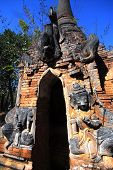 Shwe Inn Taing Paya Is The Famous Ancient Temple On Inle Lake In Myanmar.