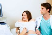 pregnant woman and the future father