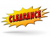 Clearance Yellow Star Icon