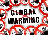 No Global Warming Abstract Concept