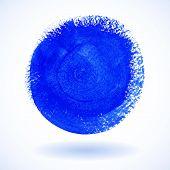 Illustration of Blue Circle Watercolor Banner. Vector illustration