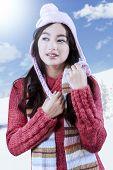 Female High School Student Wearing Sweater
