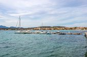 Small Quayside Of Golfo Aranci In Sardinia