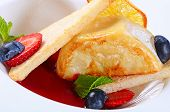 Fried Camembert With Berry Sauce