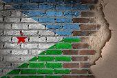 Dark Brick Wall With Plaster - Djibouti