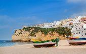 Cute Landscape Marine Town Of Carvoeiro. Portugal.