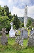 Celtic cemetery and round tower