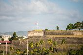 Old French Fort On Coast Of Martinique