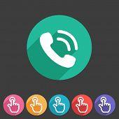 phone telephone flat icon