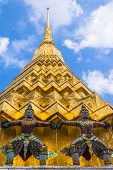 Architectural details of The Wat Phra Kaew