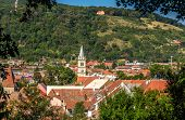 View Of Sighisoara Town In Romania