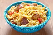 Noodle with meat and pepper