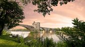 picture of avignon  - Nice sunset in provence from avignon city - JPG