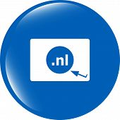 Domain Nl Sign Icon. Top-level Internet Domain Symbol