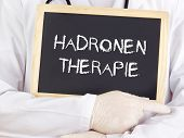 Doctor Shows Information: Hadron Therapy In German Language