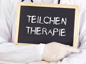 Doctor Shows Information: Particle Therapy In German Language