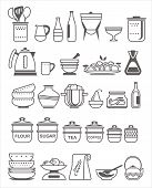 Kitchen Utensils. Vector Illustration