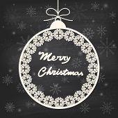 Christmas Greeting Card With Hanging Ball