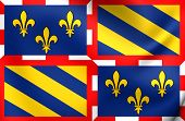 Flag Of Burgundy, France.