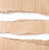Three Pieces Of Corrugated Cardboard