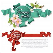 Holiday Realistic Ribbon On Different Topics