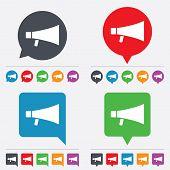 Megaphone sign icon. Loudspeaker symbol.