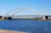 Bridge Arkhar Over The Ishim River In Astana