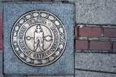 Boston Freedom Trail Sign, Massachusetts, Usa