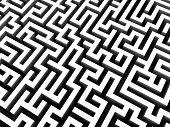 3d rendered illustration of a maze