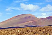 Volcanic Landscape Taken In Timanfaya National Park, Lanzarote, Canary Islands, Spain