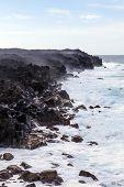 Huge Waves In The Ocean Near Los Hervideros