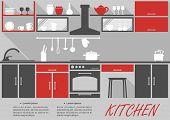 Kitchen interior decor infographic
