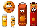 Cartoon orange and juice characters