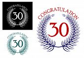 30 th Anniversary congratulation wreaths