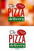 Pizza Delivery emblem or label