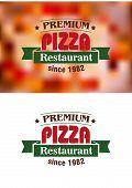 Premium Pizza Restaurant sign