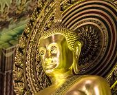 Large Golden Buddha Statue At Wat Chanasongkram