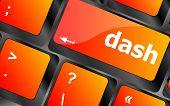 Dash Word On Keyboard Key, Notebook Computer Button
